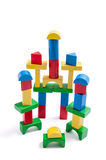 Stack of Toy Wooden Blocks Stock Photography