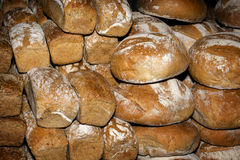 A stack of traditional bread Stock Photos