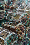 Stack of traditional lobster pots Stock Photography