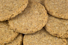 Stack of Traditional Scottish Oatmeal Biscuits Royalty Free Stock Photos