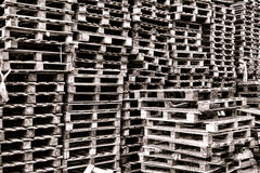 Stack of Transportation and Shipping Wood Pallets Stock Photography