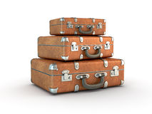 Stack of Travel Suitcases vector illustration