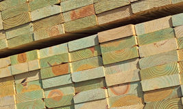 Stack Treated Pine Woods Royalty Free Stock Image