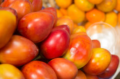 Stack of tree tomato in the market Stock Photos