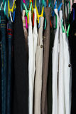 Stack of trousers Stock Images