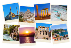 Stack of Turkey travel images Royalty Free Stock Photos