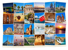Stack of Turkey travel images Stock Photography