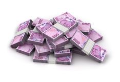 Stack of Turkish Lira Royalty Free Stock Photos