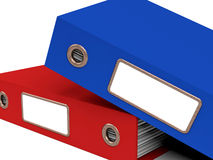 Stack Of Two Files For Getting Office Organized Royalty Free Stock Image