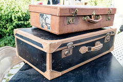Stack of two old suitcases Royalty Free Stock Photography
