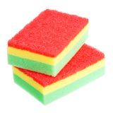 Stack of two scouring sponges Royalty Free Stock Photography
