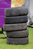 Stack of tyres Royalty Free Stock Photography