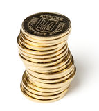 Stack of Ukrainian coins Royalty Free Stock Photography