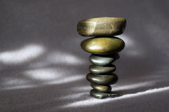 Stack of uneven stones upside down Royalty Free Stock Photo