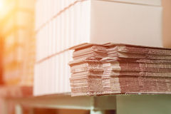 Stack of unfolded boxes. Stock Image