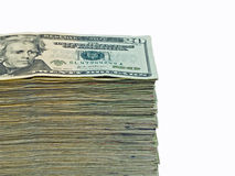 Stack of United States currency Royalty Free Stock Photography