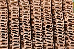 Stack of unused roof tiles Royalty Free Stock Image