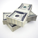 Stack of US Dollars Stock Image