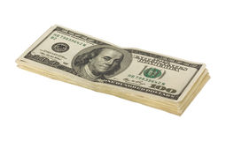 Stack of US Hundred Dollar Bills Royalty Free Stock Photos