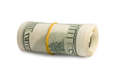 Stack of US hundred dollar bills Royalty Free Stock Photography