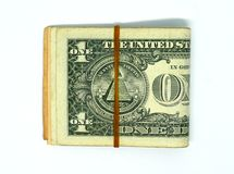 Stack of USA Bank notes stock photography