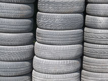 Stack of used car tires Stock Photos