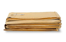 Stack of used envelops Royalty Free Stock Photography