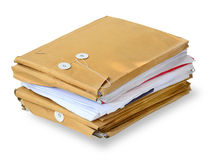 Stack of used envelops Stock Photo