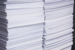 Stack of used paper for reuse. Close up stack of used paper for reuse Stock Images