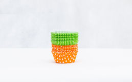 Stack of a variety of colorful cupcake liners Royalty Free Stock Image