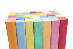 Stack of variety colors of chalk pastel Royalty Free Stock Photography