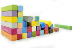 Stack of variety colors of chalk pastel Stock Images