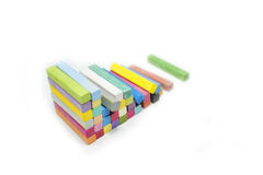 Stack of variety colors of chalk pastel Royalty Free Stock Photo