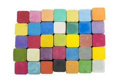Stack of variety colors of chalk pastel Stock Image