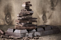 Stack of various chocolate Stock Photography