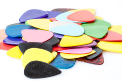 A stack of various color guitar picks Stock Images