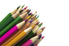 Stack of various colored pencils Stock Photography