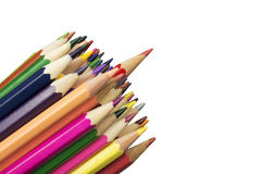 Stack of various colored pencils Royalty Free Stock Photography
