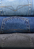 Stack of various jeans Stock Photography