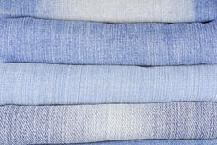 Stack of various jeans Royalty Free Stock Photo