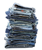 Isolated Jeans Stack Stock Images