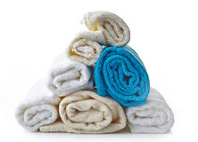 Stack of various spa towels Royalty Free Stock Image