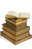 Stack of very old books Stock Image