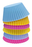 Stack of Vibrant Cupcake Wrappers Stock Image
