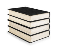 Stack of vintage black books Royalty Free Stock Image
