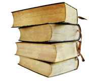 Stack of vintage books stock image