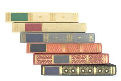 Stack of vintage books Royalty Free Stock Images