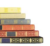 Stack of vintage books Stock Photo