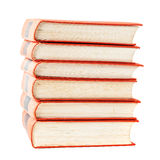 Stack of vintage books with red covers Stock Photography