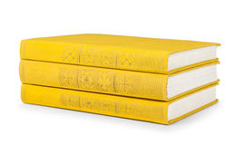 Stack of vintage books in a yellow cover Stock Images